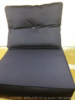 Sunbrella Deep Seat Chair Cushion, Navy (online $101)