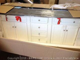 """72"""" Brittany Double Cabinet Vanity (online $1706) Does not come with a counter"""