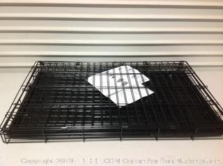 Double Door Metal Dog Crate