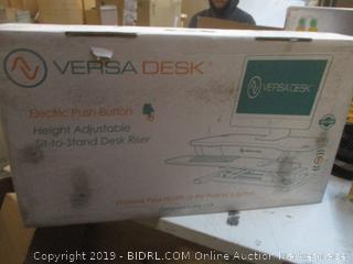 Versa Desk Electric Push Button Height Adjustable Sit To Stand Desk Riser