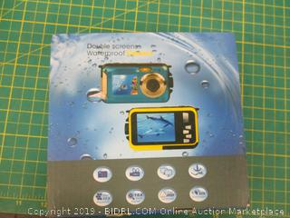 Double Screens Waterproof Digital Camera