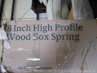 ZINUS FULL SIZE HIGH PROFILE WOOD BOX SPRING
