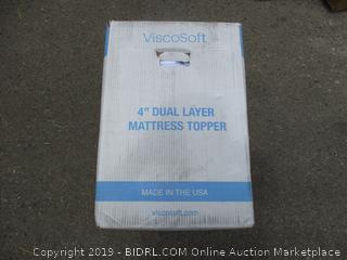 "VISCOSOFT 4"" DUAL LAYER MATTRESS TOPPER"