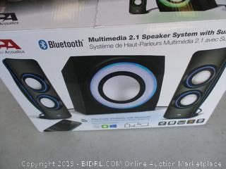 CA BLUETOOTH SPEAKER SYSTEM WITH SUBWOOFER (POWERS ON)