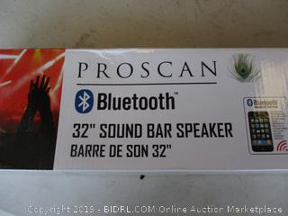 "PROSCAN 32"" SOUND BAR SPEAKER (POWERS ON)"