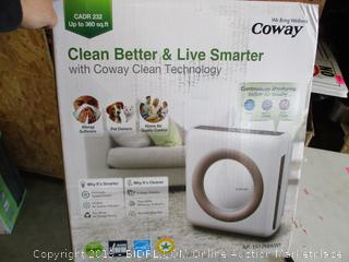 COWAY AIR PURIFIER (POWERS ON)