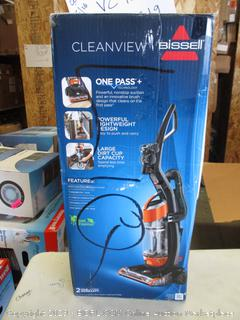 BISSELL CLEANVIEW VACUUM (POWERS ON)