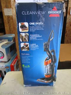 BISSELL CLEANVIEW VACUUM CLEANER (POWERS ON)