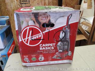 HOOVER POWER SCRUB DELUXE CARPET WASHER (POWERS ON)