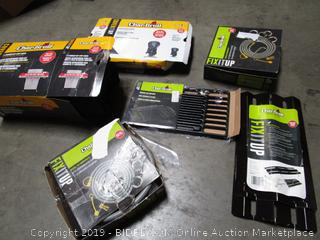 Big Lot of BBQ Items: Char-Broil Cast Iron Grate, Patio Bistro Cover, Burner Rip-Stop Cover, & More