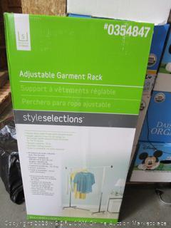 StyleSelections Adjustable Garment Rack