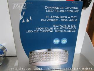 DSI Dimmable Crystal LED Flush Mount