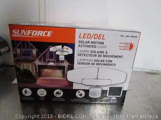 SunForce LED/DEL solar Motion Activated Light