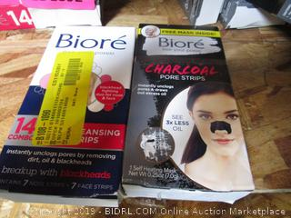 Biore Cleansing Strips & Charcoal Pore Strips