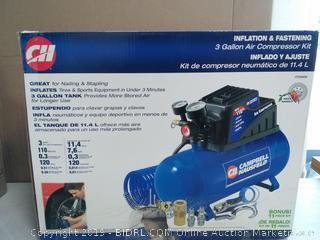Air Compressor, 3 gallon (online $113)