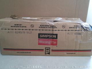 Simpson Strong Tie18-Gauge Double 2x4 Post Cap/Bases (online $99)