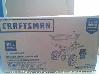 Craftsman 110-lb Tow Broadcast Spreader (online $149)