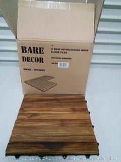U-Snap Interlocking Wood Tiles  Solid Teak Wood  (online $79)