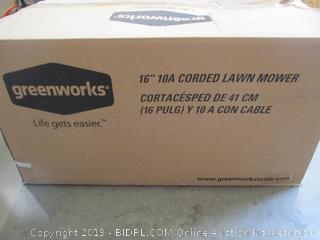 "Greenworks 16"" Corded Lawn Mower"