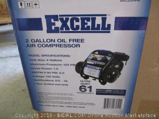 EXCELL 2 Gal. Oil Free Air Compressor