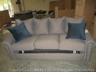 pullout couch with accent pillows (missing feet)