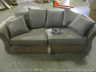 loveseat with accent pillows (new)