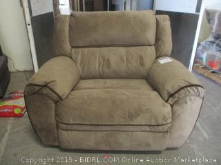 osborn tan recliner-Powers On