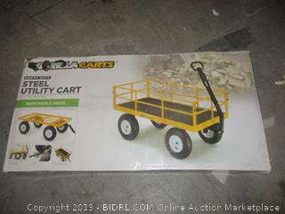 Gorilla carts steel utility cart with removable sides