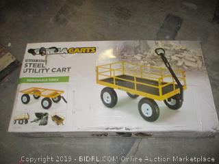 Gorilla carts steel utility cart with removable sides - please preview