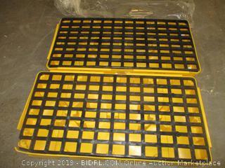 eagle yellow and black polyethylene spill containment platform - damaged