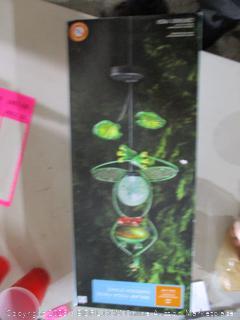 Solar Yoga Frog Garden Stake