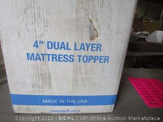 """4"""" Dual Layer Mattress Topper Queen Size"""
