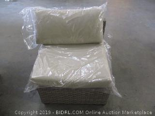 Armless Chair and Cushion