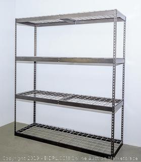Saferacks Stand Alone Wall Shelf (2x8x7, dark gray) - MSRP $449