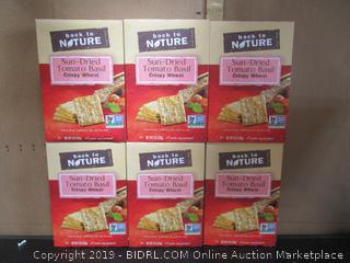 Back to Nature Sun-Dried Tomato Basil Crispy Wheat Crackers (Case of 6 Boxes)