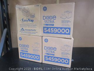 4 x Dixie Ultra Easy Nap Interfold Napkin Dispensers