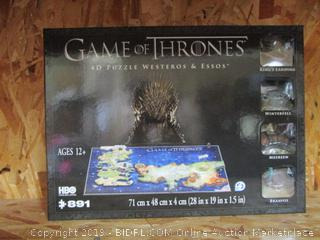 HBO Game of Thrones: 4D Puzzle of Westeros & Essos