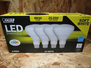 Feit Electric LED Dimmable BR30 Flood Light Bulbs 10W Soft White