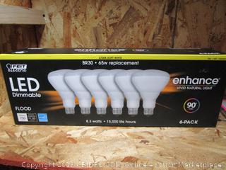 Feit Electric LED Dimmable Flood Light Bulbs BR30 8.3W/65W