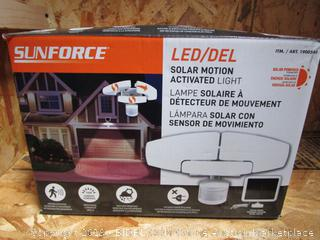 SunForce LED Solar Motion Activated Light