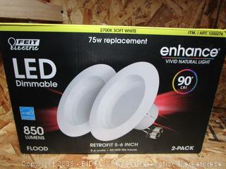 Feit Electric LED Dimmable Enhance Soft White 9.4W/75W Retrofit Kits