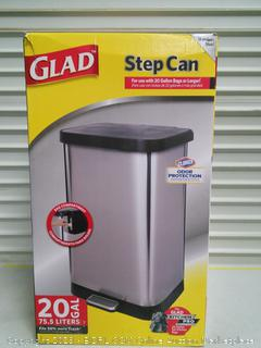 Stainless Steel Step Trash Can with Clorox Odor Protection (online $89)