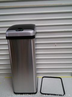 iTouchless RX 13 Gallon Stainless Steel Touchless Trash Can (online $89)