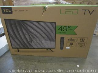 """TCL LED TV 49""""  Powers on See Pictures"""