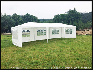 SHAREWIN Hynawin Outdoor Canopy Tent Gazebo Tent Waterproof Canopy for Party Camping,White with 4&6Windows (30'10')