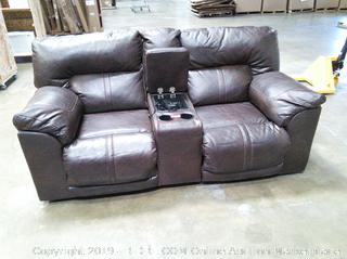 Double Reclining Sofa - Powers up and reclines ... time for a movie next!