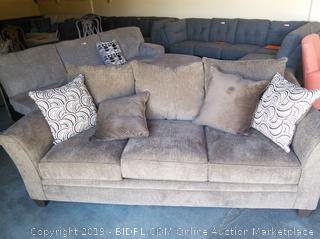 Simmons Upholstered Three Seat Sofa  with Cushions