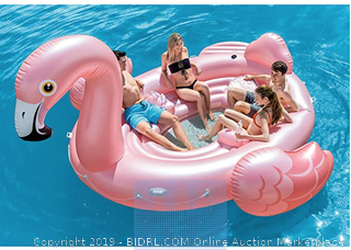 Intex Flamingo Party Island, Inflatable Island, (166in X 147in x 73in) Online $145