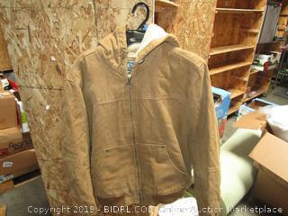 GH Bass Mens Sherpa Hooded Work Jacket Medium