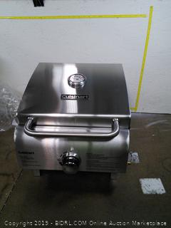 Professional Tabletop Gas Grill (online $88) damaged edge